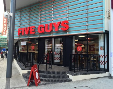 5 guys outside